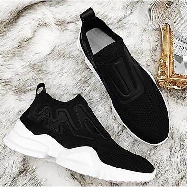 06856963 fermé Bout Printemps Femme Noir Eté Chaussures Confort Plat Rouge Basket Maille Talon 4xx7qwz