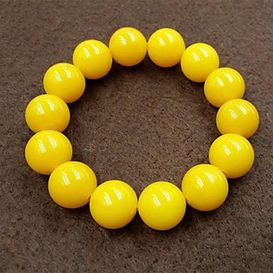 voordelige Herensieraden-Heren Kralenarmband kralen Creatief Bal Aziatisch Eenvoudig Etnisch Steen Armband sieraden Geel Voor Dagelijks Straat