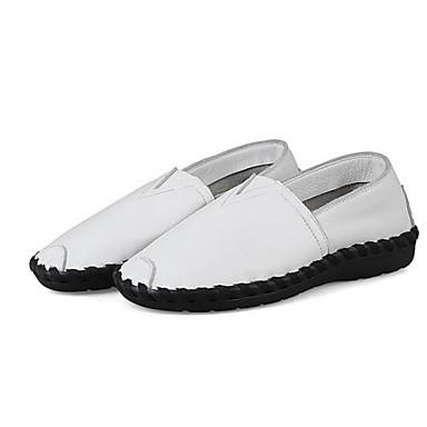 Plat Chaussures Eté Noir Chaussons Printemps Mocassins et Talon Confort Rouge Nappa 06848492 fermé Femme Blanc Bout Cuir D6148 PwdZFnRPq
