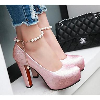 Aiguille de Talon Polyuréthane Femme 06869622 confort Printemps Blanc Talons Automne à Chaussures Rose amp; Beige Chaussures Pqvx1vFnw5