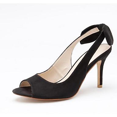 Femme Chaussures Daim Printemps Printemps Printemps Confort  s Talon Aiguille Noir / Rouge   Qualité Fine  81dabc
