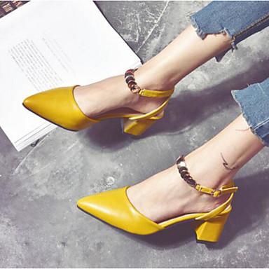 Talons Beige 06864584 Chaussures Femme Confort Chaussures Basique Automne Jaune à amp; Bottier Talon Escarpin Printemps Polyuréthane TOwqOv