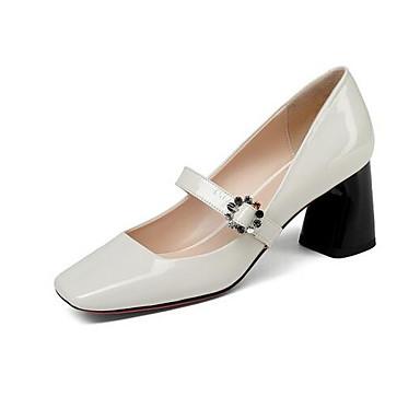 à Bottier Confort Printemps Noir Chaussures Blanc Chaussures Femme Talon Talons 06857115 Nappa Cuir xqYnOz