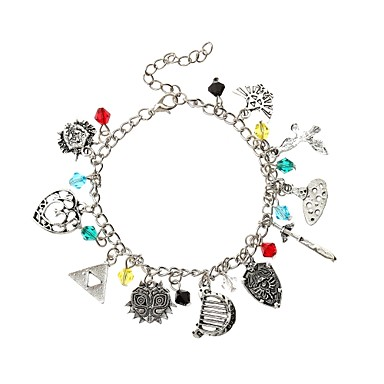 22ef219b0dc7c Women's Charm Bracelet Vintage Style Braided Creative Ladies Tattoo Style  Anime Sweet Lolita Alloy Bracelet Jewelry Silver For Carnival Bikini