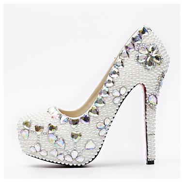4b7bb63bd10 Women s PU(Polyurethane) Spring   Fall   Spring   Summer Sweet   Minimalism  Wedding Shoes Stiletto Heel Round Toe Crystal   Sparkling Glitter Rainbow  ...