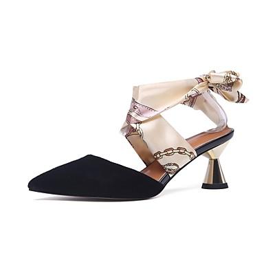 été Chaussures Femme Noir 06864984 Daim Talon Sabot Confort Mules Cône Printemps Amande amp; dtqpfq