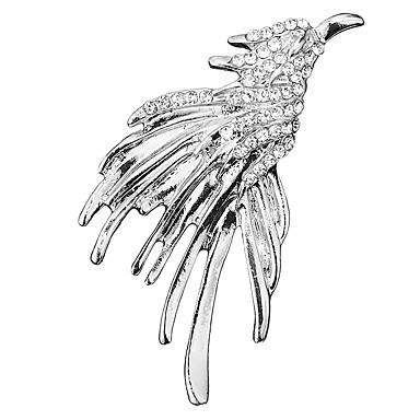 abordables Epingles & Broches-Homme Zircon Broche Tendance Rivière de Diamants Aigle Créatif Baroque Mode British Broche Bijoux Dorée Argent Pour Mariage Soirée