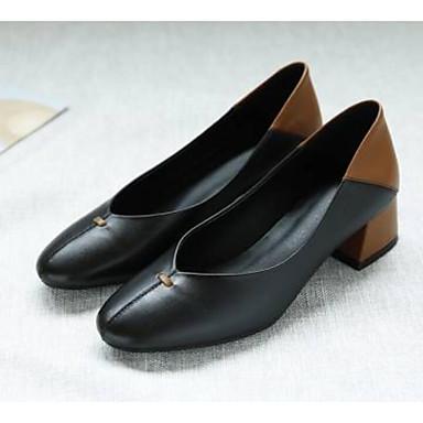 Nappa Blanc Confort Bottier Talon Automne à Femme Chaussures 06858815 Chaussures Talons Cuir Noir Amande vqnwxzfEzU