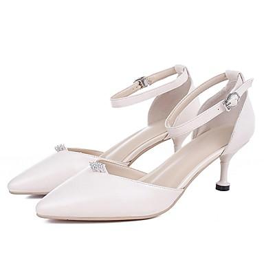 Chaussures 06861973 mouton Talon Aiguille Peau Escarpin Talons de Rose Basique à Eté Blanc Confort Femme Chaussures aUdqZd