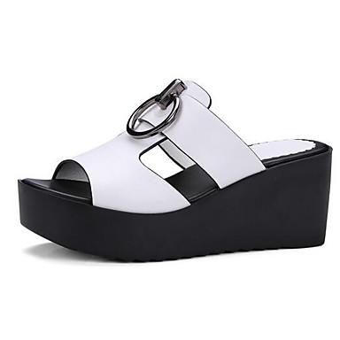 messieurs et mesdames / les chaussures de printemps confort des microfibres printemps de talon aiguille blanc / noir / rouge / les frontières 32bd24