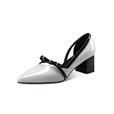 Nappa Femme Blanc Eté Noir Talon 06863783 Cuir Talons à Chaussures Bottier Chaussures Confort qSOUg