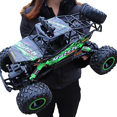 abordables Radiocommandé-Voitures RC  Giantfoot Monster Truck Crawlers 4WD 4 canaux 2.4G Buggy (Hors des routes) / Rock Climbing Car / 4 roues motrices 1:12 9 km/h Eau / saleté+D4731 / antichoc / Simulation / Interaction