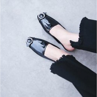 06861994 Plat Chaussures Nappa Confort Talon Printemps Mules Femme Noir Sabot Cuir amp; TwPqxzCgH