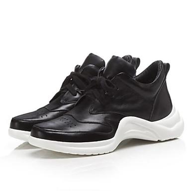 Plat Confort fermé Blanc 06850312 Basket Femme Chaussures Bout Nappa Noir Eté Cuir Talon Printemps xRUfS6q