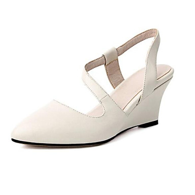 580a5d1e79e Women's Nappa Leather Summer Comfort Clogs & Mules Wedge Heel Closed ...