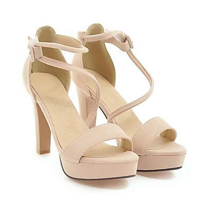 Zapatos Negro Verano 06848806 Gris Confort Ante Sandalias Stiletto Tacón Mujer Beige w6gZxqwd