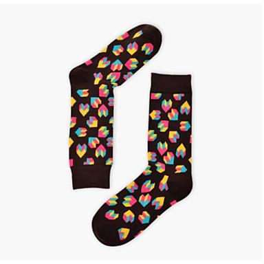 abordables Accessoires pour Chaussures-1 paire Unisexe Chaussettes Standard Imprimé Des sports Style Simple Coton EU36-EU42
