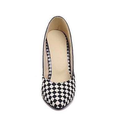 Mujer 06848833 Tacón Cuadrado Zapatos Confort Negro Sintéticos Tacones Primavera Blanco zUqzfrxXw