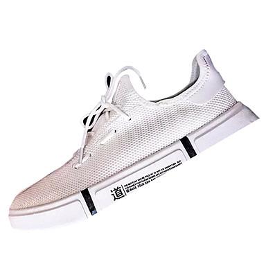 2019 Nuovo Stile Per Uomo Scarpe Comfort Pu (poliuretano) - Tessuto Elastico Autunno Sneakers Bianco - Nero #06867650
