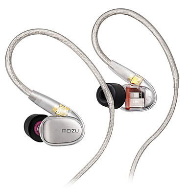 MEIZU EP71 In Ear Cable Headphones Earphone Copper Mobile Phone Earphone with Microphone Headset