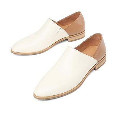 Mocassins Nappa fermé Chaussons Printemps Plat Blanc Noir Chaussures Talon 06850352 Eté Femme et Confort D6148 Cuir Bout qfEFY