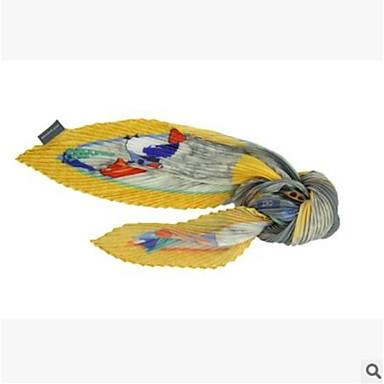 Microfibra Sciarpa - Fiocco Per Donna Autunno Casual - Da Mare Giallo Chiaro #06934376 Ricco Di Splendore Poetico E Pittorico