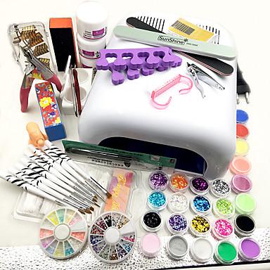 voordelige Nagelgereedschap & Apparatuur-35pcs Schattig Nail Art Kit Voor vinger Nagel kunst Manicure pedicure