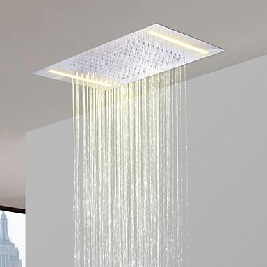 Paslanmaz çelik 304 110V ~ enerji tasarrufu ile cari banyo yağış duş başlığı alternatif 220V led lambaları