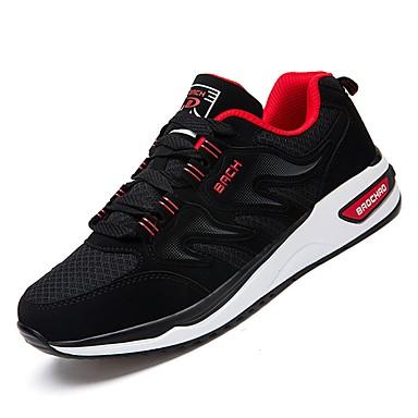 Men's Comfort Shoes Walking PU(Polyurethane) Fall Athletic Shoes Walking Shoes Shoes Black / White / Black / Red e41b2f