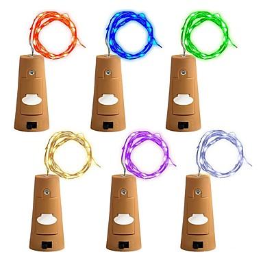 preiswerte Dekorative Beleuchtung-zdm 6 stücke flasche lichter fairy string led lichter 78 zoll / 2 m kupferdraht 20 led-lampen geeignet party hochzeit konzert festival weihnachtsbaum decoratioz