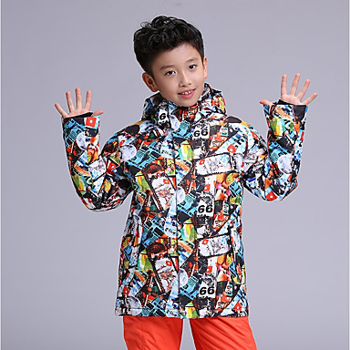 2160e4041194 GSOU SNOW Boys' Ski Jacket Waterproof Windproof Warm Ski / Snowboard Winter  Sports POLY Top