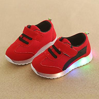 voordelige Babyschoenentjes-Jongens / Meisjes Comfortabel / Oplichtende schoenen Netstof Sneakers Peuter (9m-4ys) / Little Kids (4-7ys) Haak & Lus / LED Groen / Blauw / Roze Herfst winter