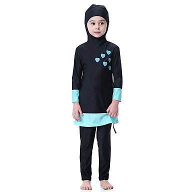 baratos Roupas de Banho para Meninas-Infantil Para Meninas Boho Esportes Estampa Colorida Roupa de Banho Preto