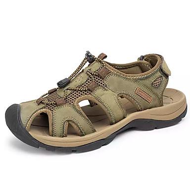 les / chaussures en daim été confort sandales marron / les brun foncé / kaki 51dd32