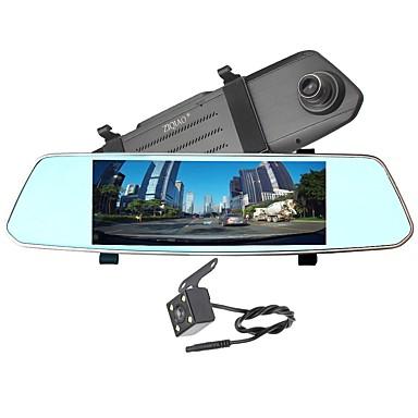 billige Bil-DVR-ZIQIAO X700 720p / 1080p HD / Nattsyn / Dual Lens Bil DVR 170 grader Bred vinkel CMOS-sensor 7 tommers IPS Dash Cam med Night Vision / G-Sensor / Parkeringsmodus Nei Bilopptaker / Bevegelsessensor