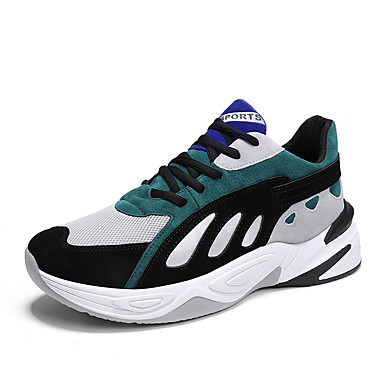 Men's Clunky Sneakers Mesh / PU(Polyurethane) Athletic Summer Sporty / Casual Athletic PU(Polyurethane) Shoes Running Shoes / Walking Shoes Breathable Black / Gray / Black / Green 0e3ec2
