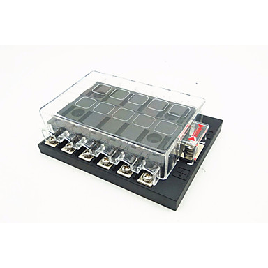dc32v 100a car ship insert fuse box 12 way output 30a. Black Bedroom Furniture Sets. Home Design Ideas