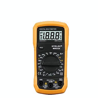 voordelige Test-, meet- & inspectieapparatuur-hyelec pm8233a digitale multimeters, handig en veilig, diode / continuïteitstest / dataretentie.