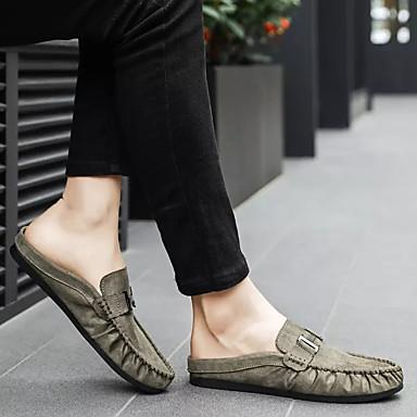 Homme Chaussures Chaussures Chaussures de confort Polyuréthane Automne Décontracté Sabot & Mules Preuve de l'usure Noir / Gris / Vert Véronèse 89bb2c