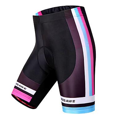 WOSAWE Dame Fôrede sykkelshorts Sykkel Shorts / Fôrede shorts / Bunner 3D Pute, Fort Tørring, Vindtett Stribe Polyester, Spandex Svart