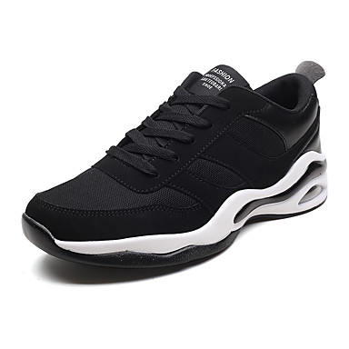 Men's Light Athletic Soles PU(Polyurethane) Fall Sporty Athletic Light Shoes Running Shoes Breathable Black / Black and White / Black / Red 18d5ab