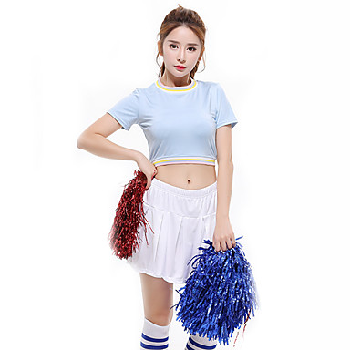 1f52200f6 Cheerleader Costumes Outfits Women's Performance Polyester Ruching / Split  Joint Short Sleeve Dropped Skirts / Top