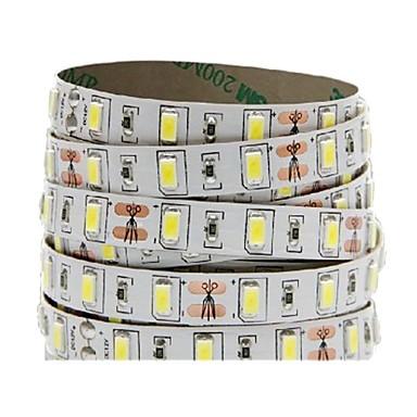 billige LED Strip Lamper-10w 5m ledd fleksibel stripe ip20 ikke vanntett 300 leds 5730 rød grønn blå varm / kald hvit dc 12v (1 stk)