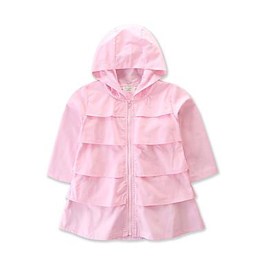 27c0dc64ac2 Νήπιο Κοριτσίστικα Βασικό Μονόχρωμο Μακρυμάνικο Βαμβάκι Μπουφάν & Παλτό  Ανθισμένο Ροζ