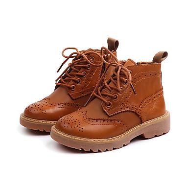 Χαμηλού Κόστους Ξεπούλημα Παπουτσιών-Αγορίστικα / Κοριτσίστικα Δέρμα Μπότες Νήπιο (9m-4ys) / Τα μικρά παιδιά (4-7ys) / Μεγάλα παιδιά (7 ετών +) Μπότες Μάχης Μαύρο / Καφέ Φθινόπωρο