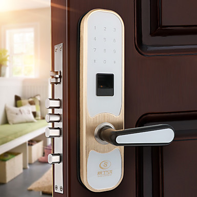 Factory Oem Stainless Steel Intelligent Lock Smart Home Security System Low Battery Reminder Anti Ping