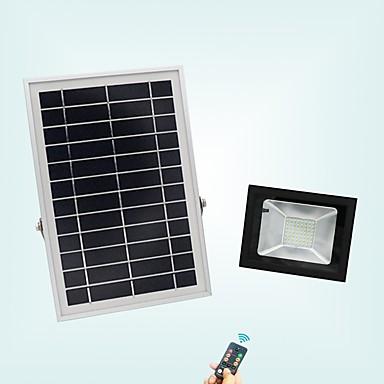 billige Utendørsbelysning-1pc 20 W LED-lyskastere Vanntett / Fjernstyrt / Solar Kjølig hvit 3.7 V Utendørsbelysning / Courtyard / Have 56 LED perler