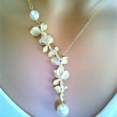 c9b3ebce063f Mujer Estilo retro Collares con colgantes Collar vintage Perla Flor damas  Rústico   Campestre Elegante Bonito