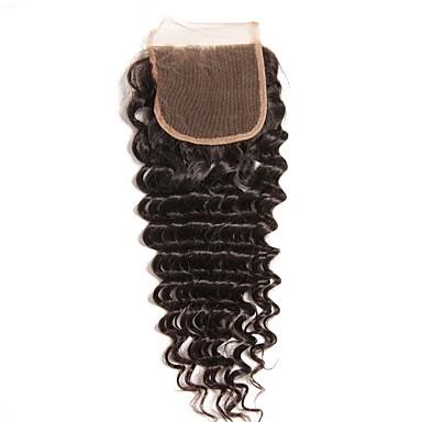 povoljno Postavljanje ekstenzija-Brazilska kosa / Burmanska kosa 4x4 Zatvaranje Wavy Besplatno dio / Središnji dio / 3. dio Srednji dio Korejska mrežica Ljudska kosa Žene Žene / Najbolja kvaliteta / Rasprodaja