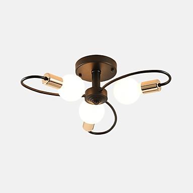 3-Light Sputnik Lustry Tlumené světlo Malované povrchové úpravy Kov Nový design 110-120V / 220-240V